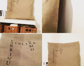 Natural beige linen Cushion cover
