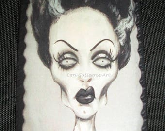 Lori Gutierrez OOAK Art - Bride of Frankenstein Magnet!!