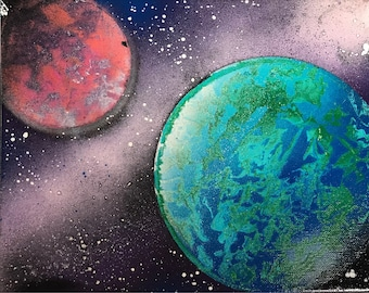 Planet and Space Painting