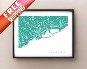 Sanremo Art Print - Italy Poster