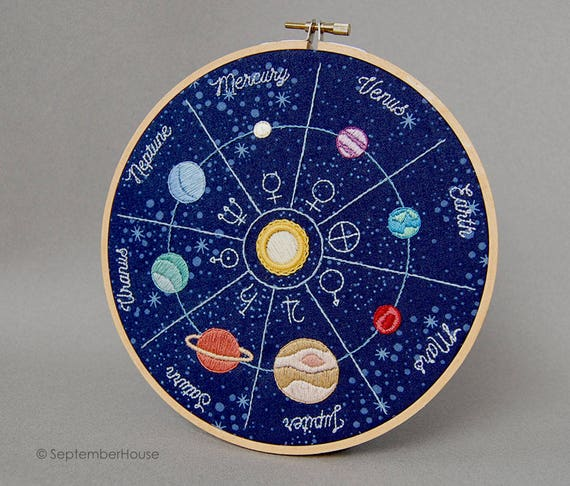 Hand embroidery patterns solar flair space themed embroidery for Space embroidery patterns