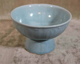 Baby Blue Brush Pottery Planter 927