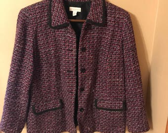 Vintage PURPLE Tweed Blazer/Coat
