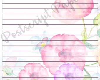 May Flowers - A5 Stationery - Writing Paper