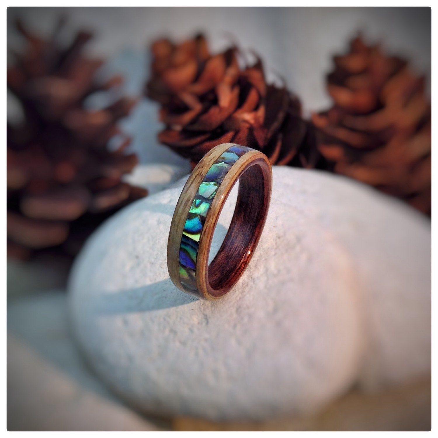 ablone mg shell ring lake rings abalone boho products