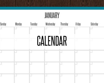 Perpetual Calendar - Fillable - Monthly Calendar - Printable PDF Calendar - Printable PDF - Instant Download