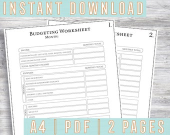 how to budget money worksheet