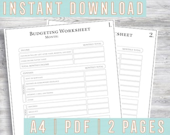 household budgeting form