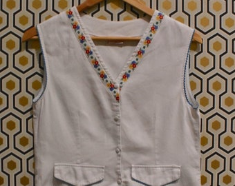 Floral Trimmed Waistcoat