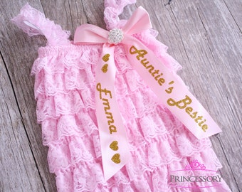 baby clothes girl, baby romper, baby gift, baby girl clothes set, auntie, baby girl gift, baby shower gift, aunties bestie, baby girl shower