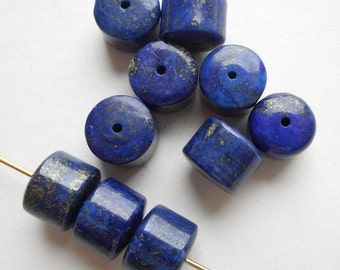8pcs-8mmX6mm-Lapis Lazuli gemstone bracelet/necklace tube beads set, lapis tube beads