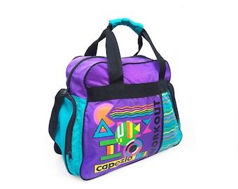 80s Capezio Workout Geometric Duffle Bag / Gym Bag
