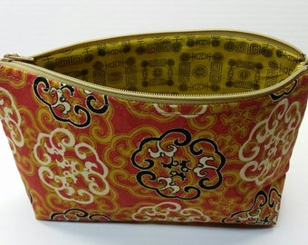 Medium Asian Patterned Zippered Pouch