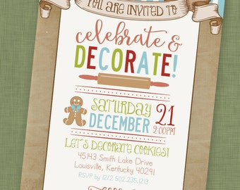 PRINTABLE Cookie Decorating Party Invitation