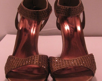De Blossom Collection brown heel size 7 1/2