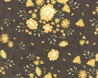 Moda PEPPER FLAX-Floral Summer Blooms Grey/Pepper (29040 14)-by the YARD