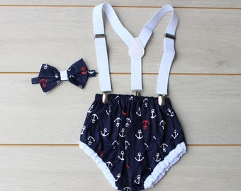Nautical Themed Cake Smash Outfit