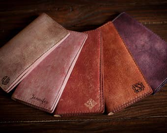 Womens wallet leather, leather womens wallet, Monogram clutch, leather clutch