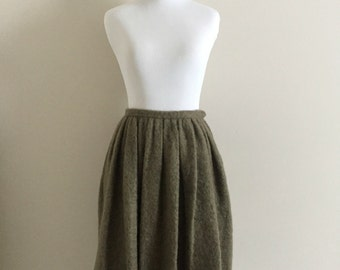 """Vintage Taupe Mohair Bubble Skirt / 1950's-60's / Junior House / Women's Size 4, Small, 26"""" Waist"""