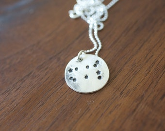 Gemini Constellation Necklace Zodiac - Gift for her June Birthday Gift Sterling Silver Gemini Pendant Small Gemini Gemini Constellation