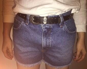 SALE Fringe Denim London Jean High Waisted Shorts