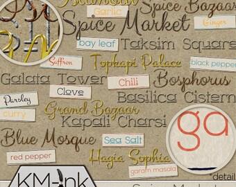 Digital Word Art: Spice Market Collection