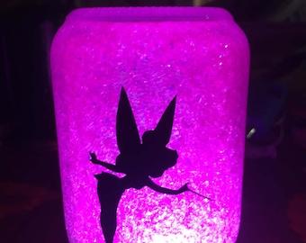 Fairy Night Light, Tinkerbell Gift, Fairy Gift, Glitteres Mason Jar, Fairy Decor, Nursery Decor