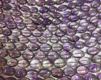 Around 15x12MM oval beads amethyst