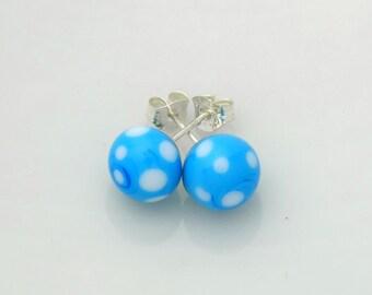Light blue Lampwork earrings