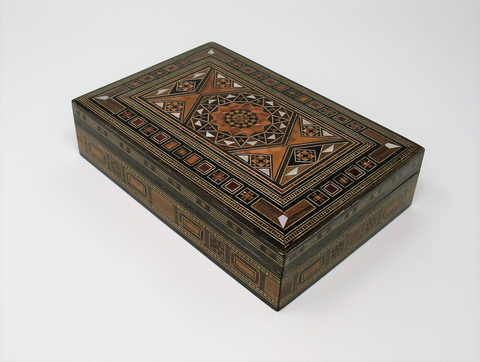 Jewelry Box Wooden Box Mosaic Box Inlay With Mother Of Pearl