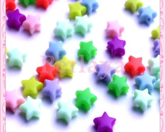 Mix of 50 6mm REF1280 acrylic star beads