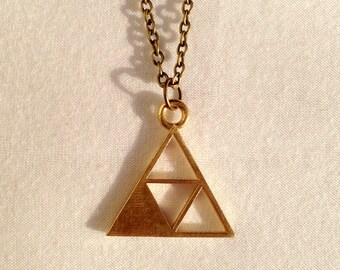Triforce of Wisdom Necklace from the Legend of Zelda