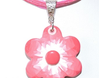 Polymer clay (fimo) pendant necklace