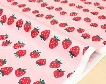Japanese Fabric Strawberries - pink, red, green - 50cm