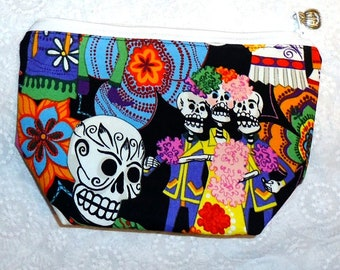 Day of the Dead Skull Makeup Bag