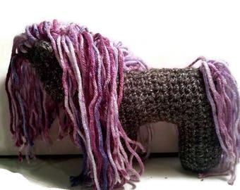 Crochet Grey Horse Plushie