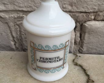 Pharmacy box Vintage Permitil Chronotabs from the 20s