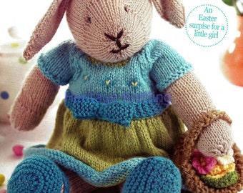 DK Bunny rabbit toy knitting pattern 99p easter