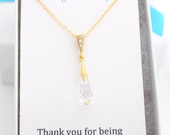 Mother in law Necklace, Mother in Law Christmas Gift, Mother in Law Gift, Mother in Law Jewelry Gift Gold Pendant Necklace Teardrop Necklace