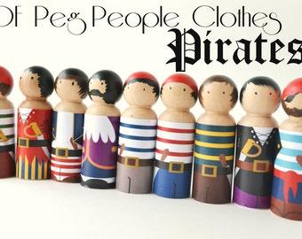 PDF Printable Peg People Pirate Clothes