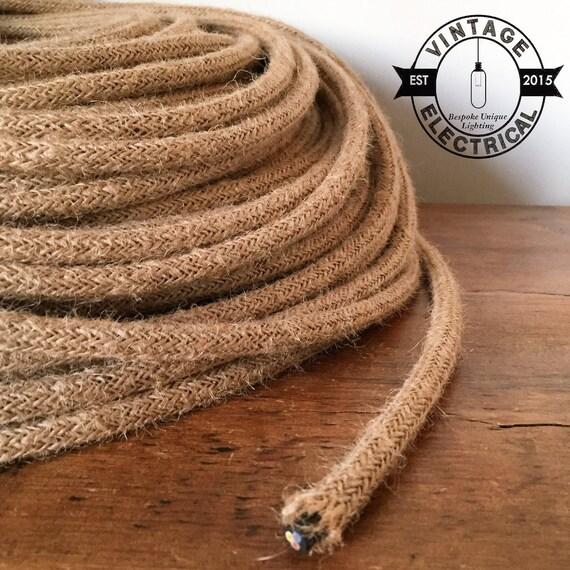 Rope Hemp Round Cable 3x0 75 Cores Vintage Textile Cable Retro