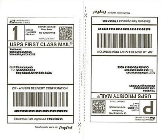 Shipping labels 50 half page shipping labels 25 sheets for for Half sheet shipping label template
