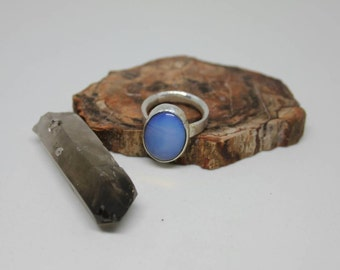 Opalite Ring set in 925 Sterling Silver Size 9