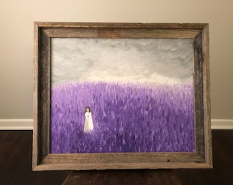 Lavender Fields 16x20 Canvas Painting