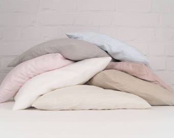 Linen pillow cases, pillow covers, linen shams   - choose your color