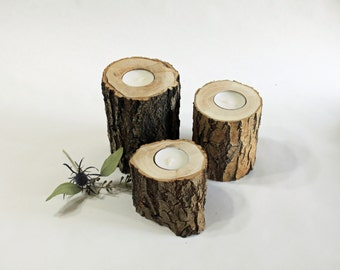 Set of 3 Reclaimed Willow Candle Holders,  Rustic Wedding Decor, House Warming Gift, Baby/Bridal Shower Decor