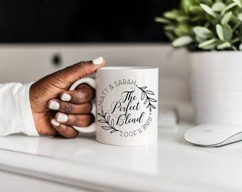 The Perfect Blend Mug Engagement Gift|Personalized Wedding Mug|Future Mrs Mug|Wedding Couple Mug|Engagement Mug Gift|Engaged Mug For BFF
