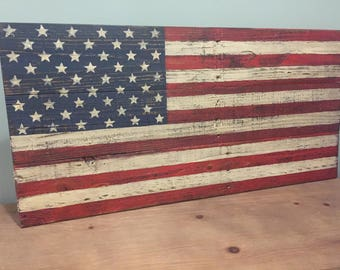 BIG HIT!  MEDIUM Pallet American Flag | Rustic | Weathered | Distressed