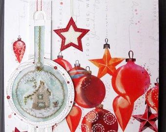 Table Christmas ball with an embroidered
