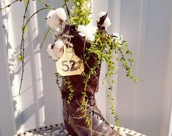 Boot floral arrangement
